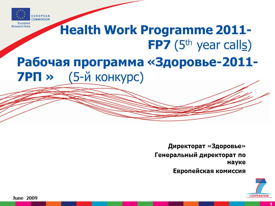 Not legally binding: (based on draft documents) applicants must refer to final published work programme. 1 Директорат «Здоровье» Генеральный директора