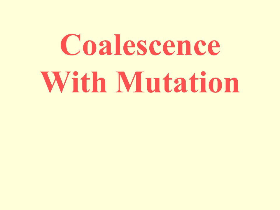 Coalescence With Mutation