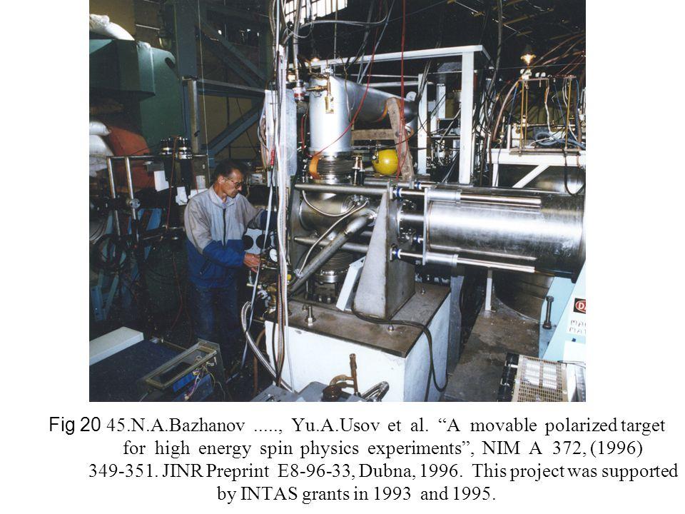 "Fig 20 45.N.A.Bazhanov....., Yu.A.Usov et al. ""A movable polarized target for high energy spin physics experiments"", NIM A 372, (1996) 349-351. JINR P"
