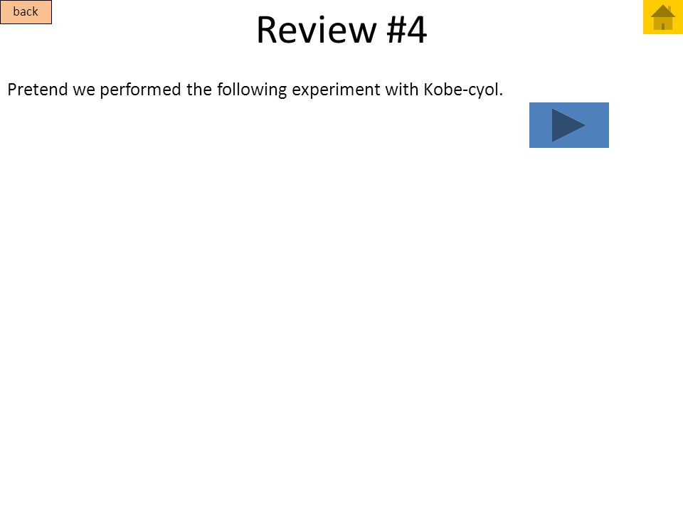 Review #4 Pretend we performed the following experiment with Kobe-cyol. back