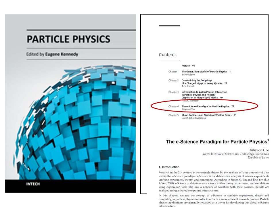 Kihyeon Cho e-Science paradigm Theory Simu- lation Experi- ment Theory-Simulation PGS LQCD Geant4 To probe the Standard Model and search for New Physics CDF Belle/Belle II e-Science paradigm e-Science paradigm Theory-Experiment-Simulation K.Cho and H.W.Kim, JKPS (2009) Theory-Exp.