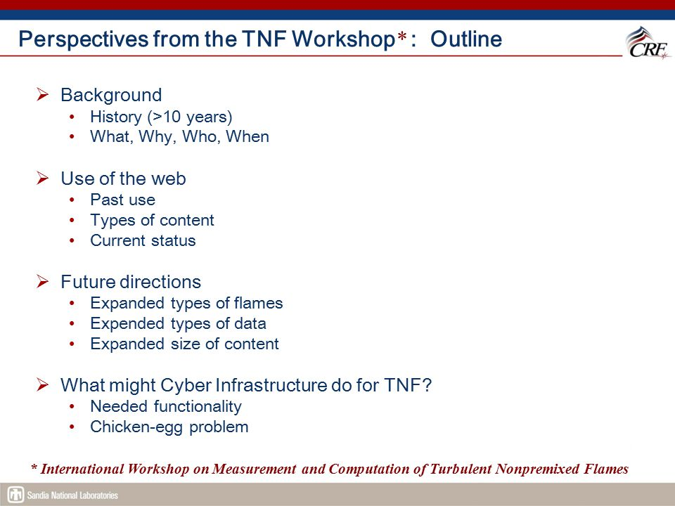 TNF8 Workshop (2006) – Comparison Table for BB and Swirl Prepared by Andreas Kempf