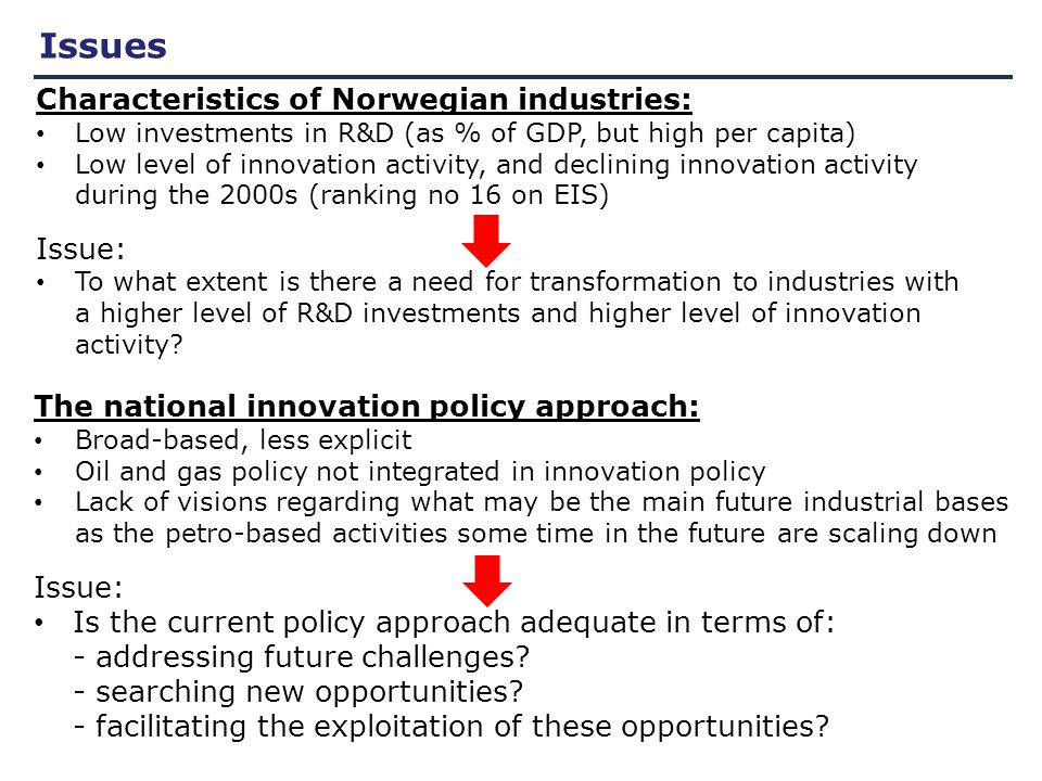 Path dependence and innovation policy Smits et al 2010: An appropriate 'evolutionary' targeting perspective should be developed implying a strong strategic process of selection by government It is imperative to assure that sufficient creation of new options and associated experimentation and learning ('variation') take place before a finalized targeting policy be implemented Appropriate targeting perspective Strategic process of selection Assure sufficient creation of new options and associated experi- mentation and learning (variation) Implementation of finalized targeting policy Need for: New arenas of interaction New mechanisms of interaction and mutual adaptation Strategic intelligence Strategic niche management Smits, R.E., S.