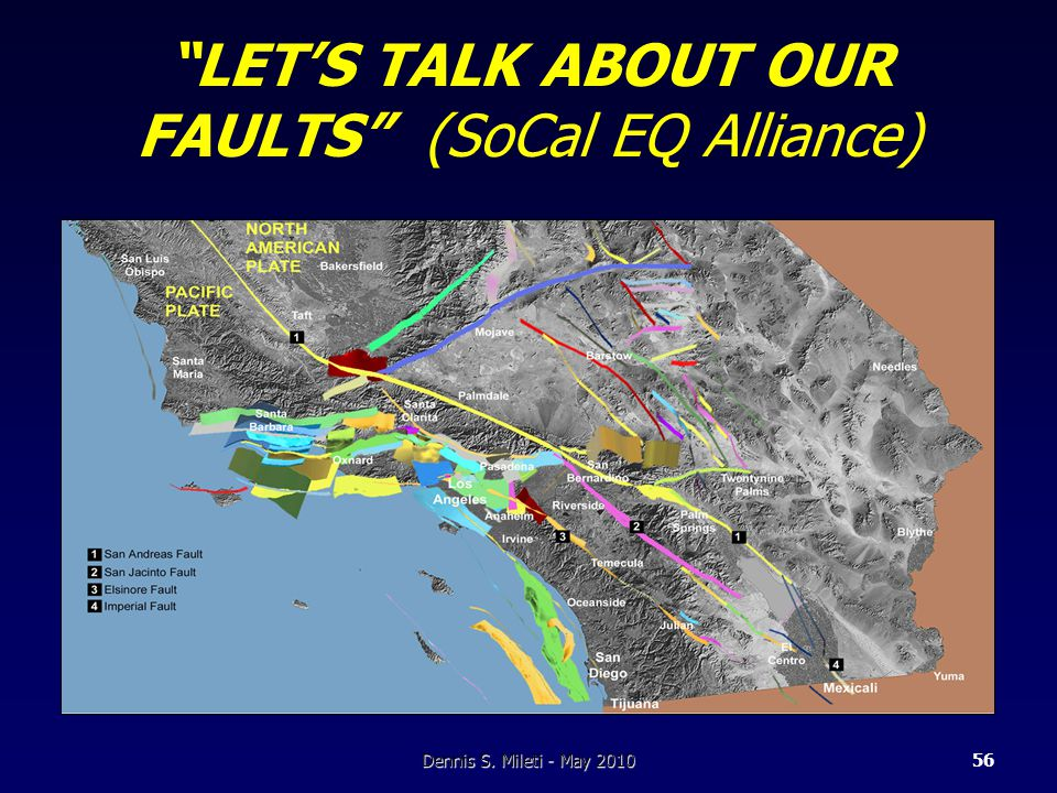 LET'S TALK ABOUT OUR FAULTS (SoCal EQ Alliance) Dennis S. Mileti - May 201056