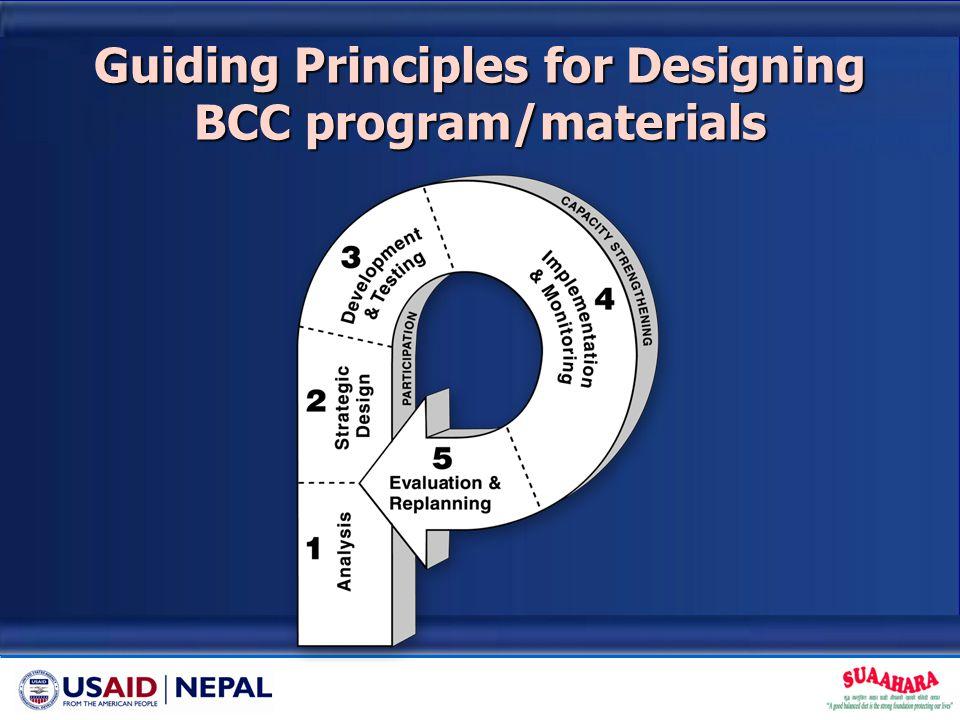 Guiding Principles for Designing BCC program/materials