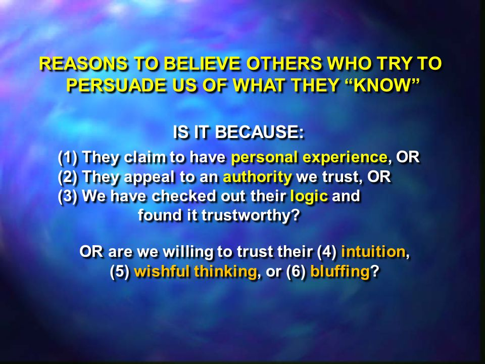 Present + Repeatable + Observable = SCIENCE Past + Non-Repeatable + Eyewitness Account = HISTORY Past + Non-Repeatable + No Eyewitnesses = BELIEF