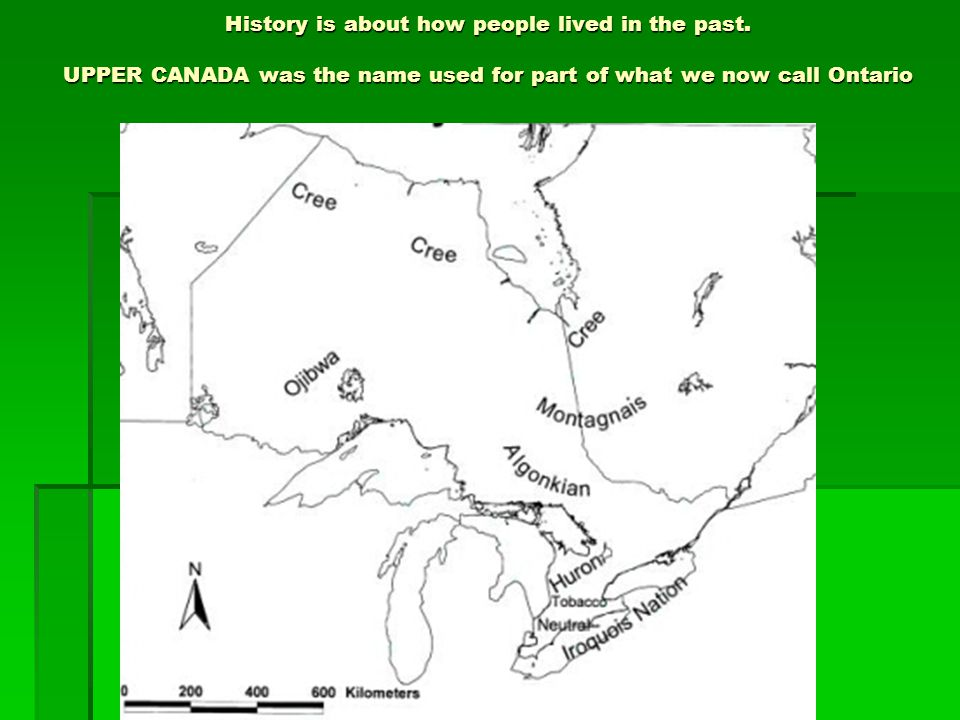 History is about how people lived in the past. UPPER CANADA was the name used for part of what we now call Ontario