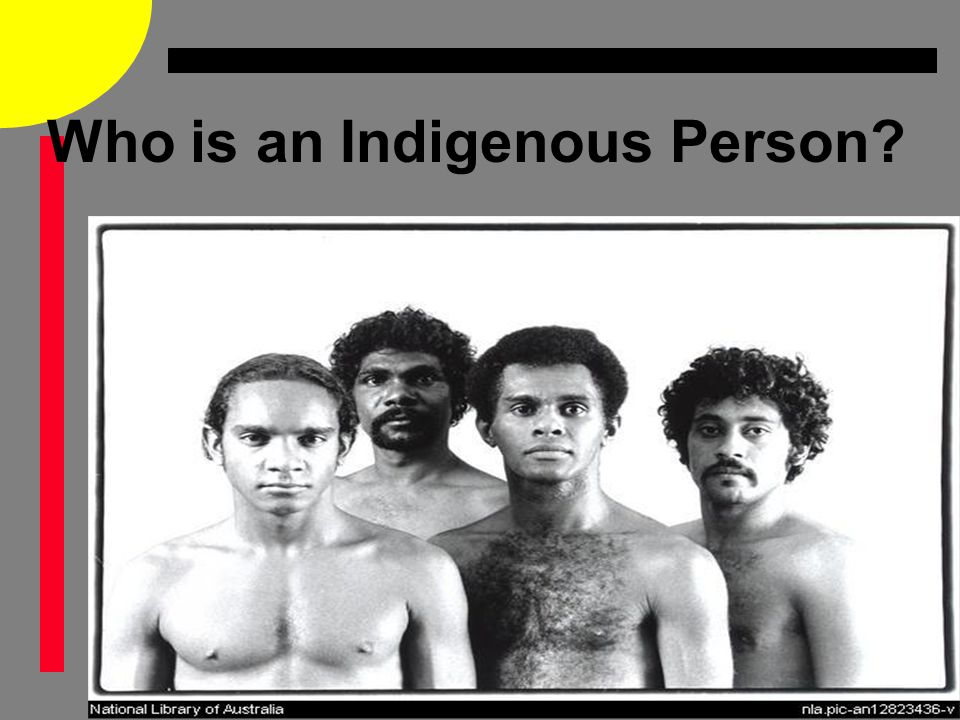 Who is an Indigenous Person?
