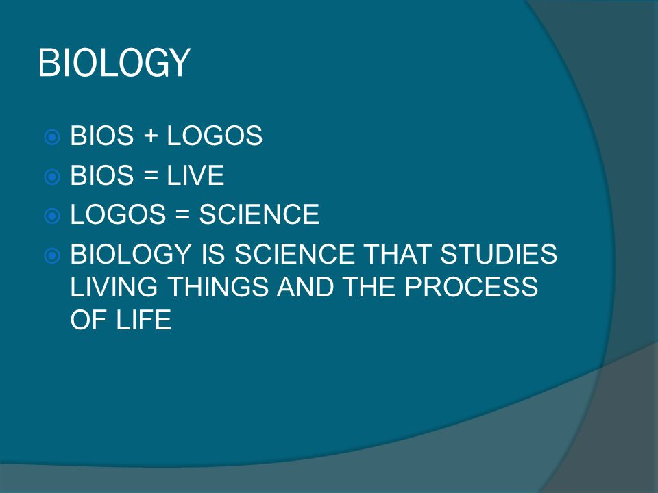 BIOLOGY AS A SCIENCE 1.IT HAS OBJECTS 2. IT HAS THEMES OR PROBLEM TO STUDY 3.