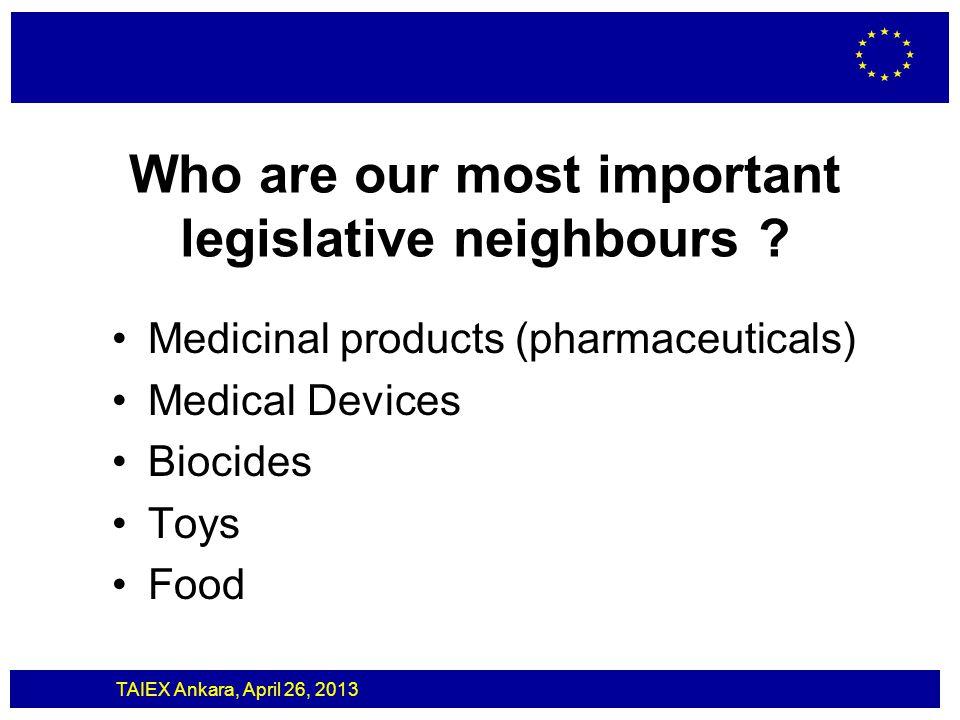 TAIEX Ankara, April 26, 2013 Cosmetics/Biocides Biocides legislation (BPR) and cosmetics legislation are not cumulative (i.e.