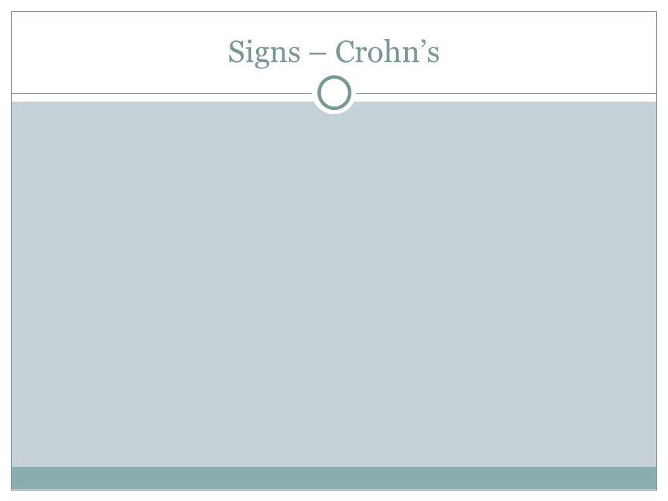 Signs – Crohn's
