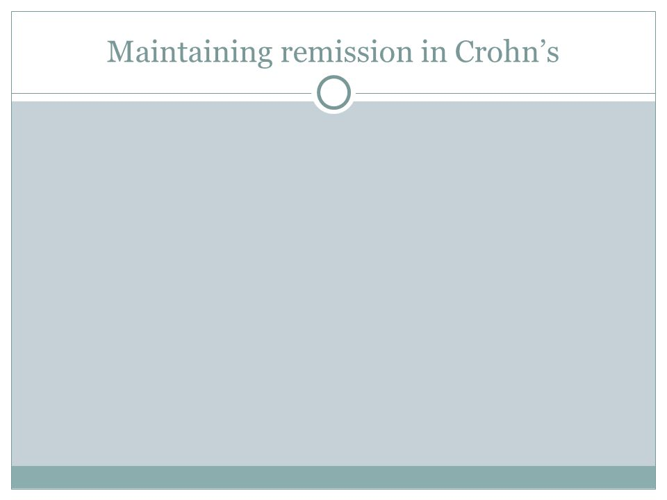 Maintaining remission in Crohn's