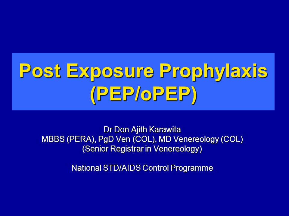 oPEP HIV Infection