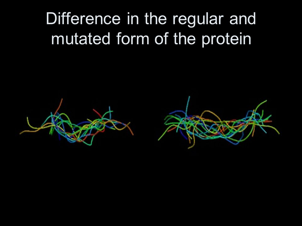 Difference in the regular and mutated form of the protein