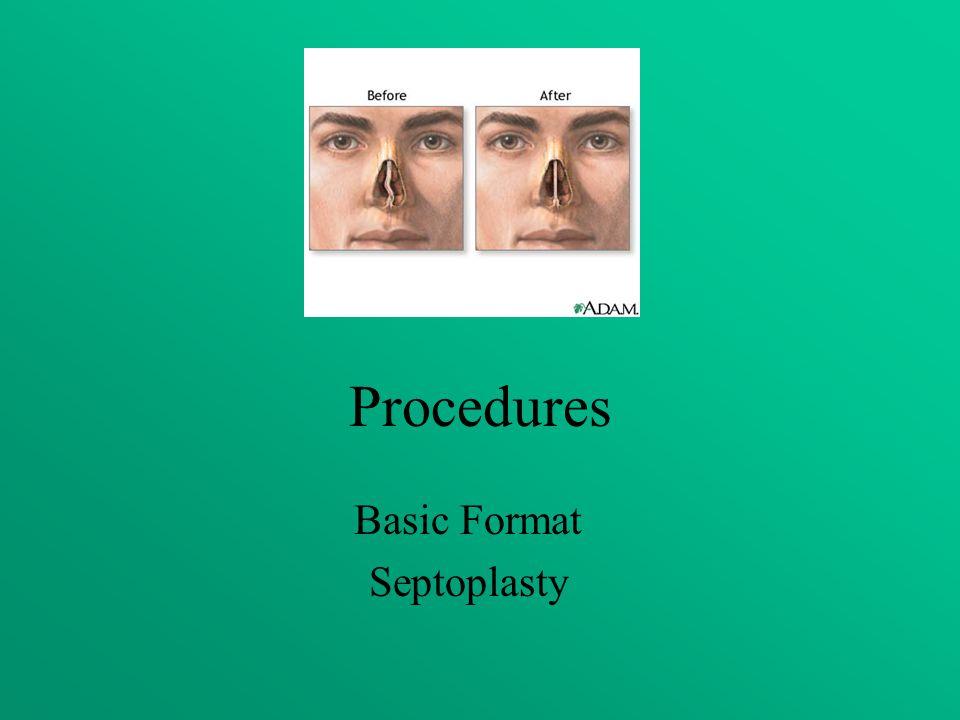 Procedures Basic Format Septoplasty