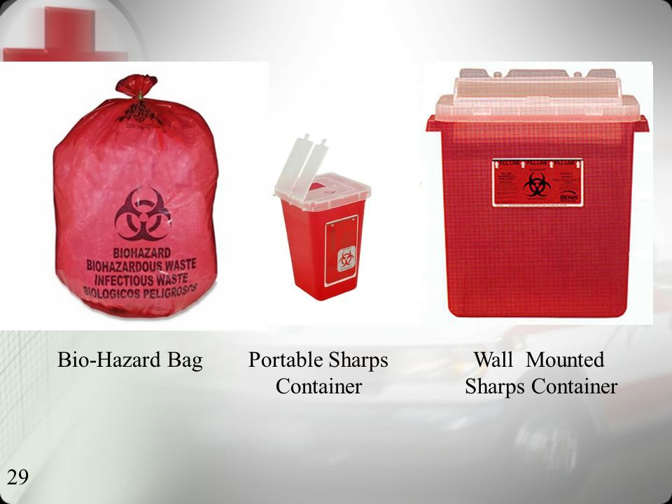 29 Bio-Hazard Bag Portable Sharps Wall Mounted Container Sharps Container