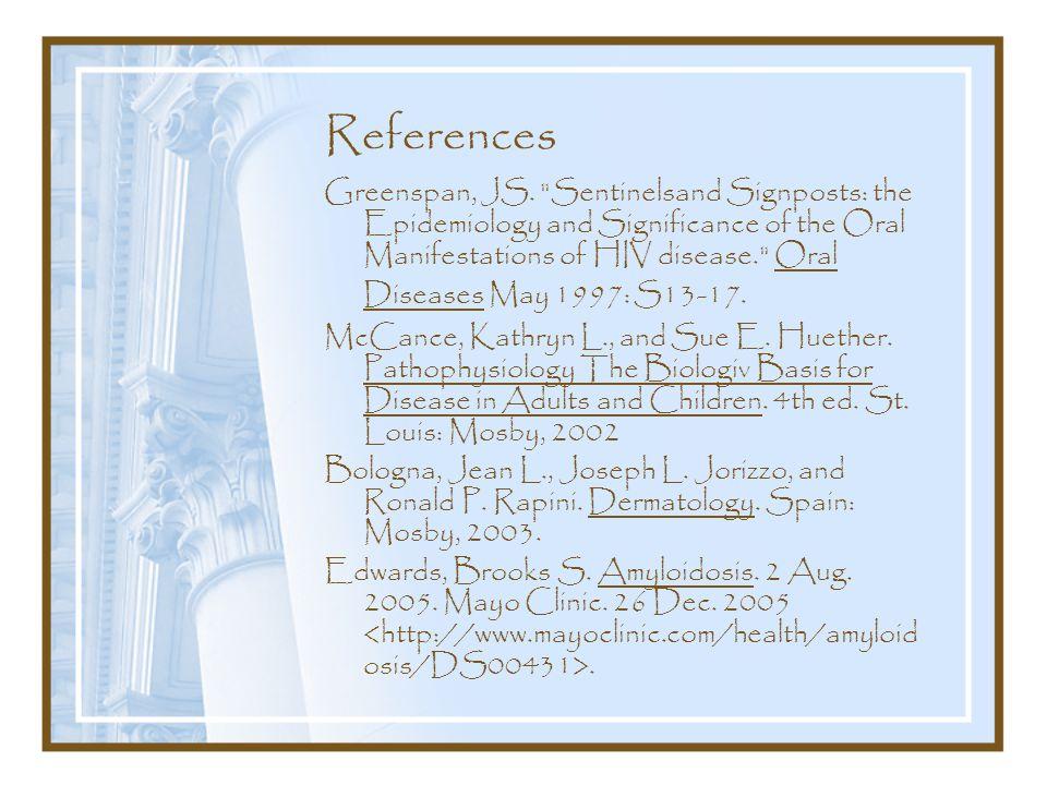 References Greenspan, JS.