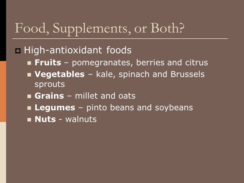 Food, Supplements, or Both.
