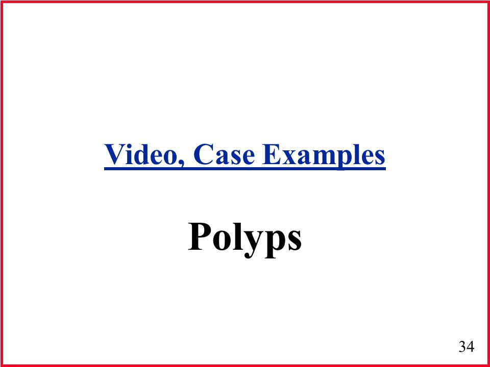 34 Polyps Video, Case Examples