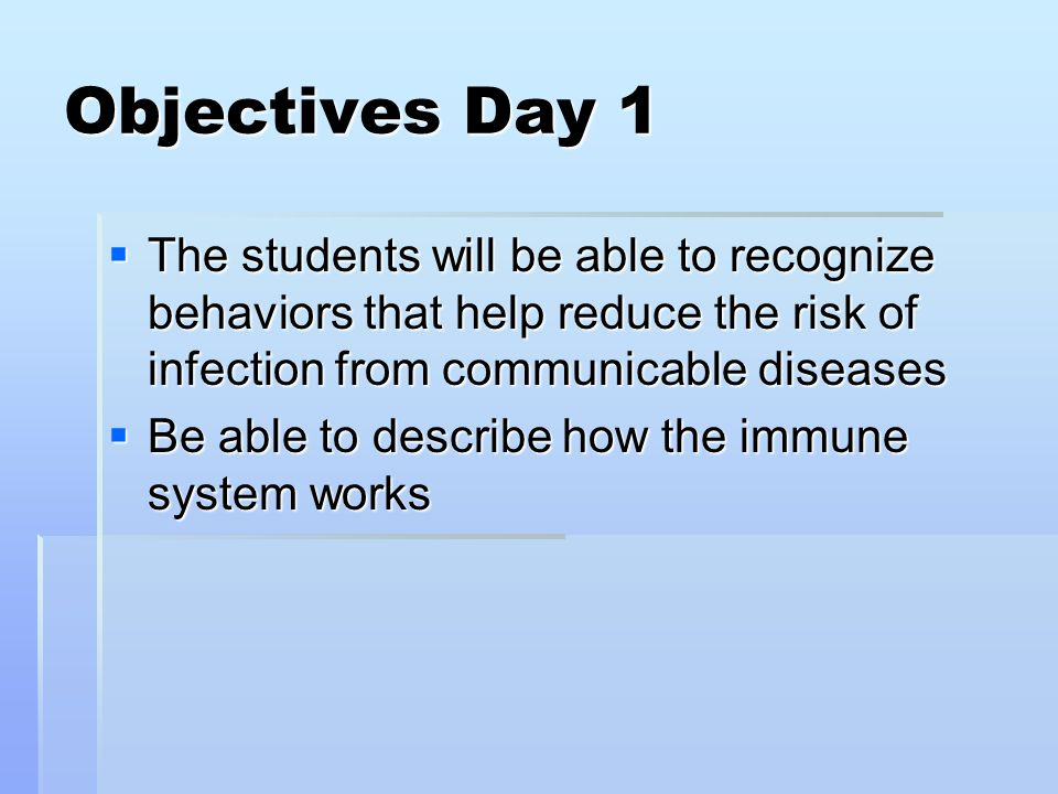Communicable Diseases  Communicable disease (infectious disease):  An illness caused by pathogens that can be spread from one living thing to another.