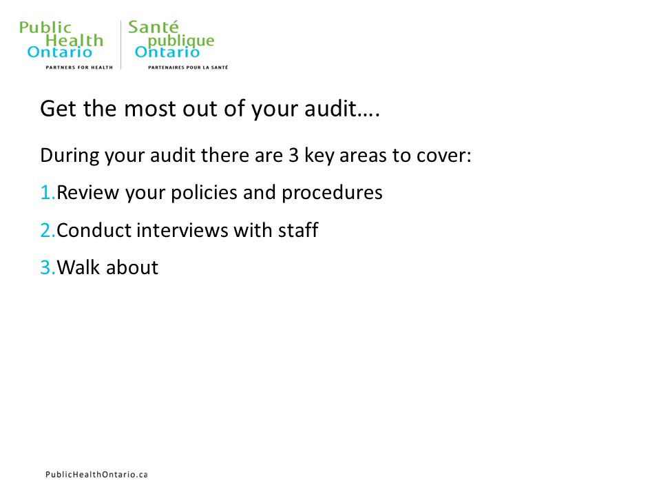 Get the most out of your audit….