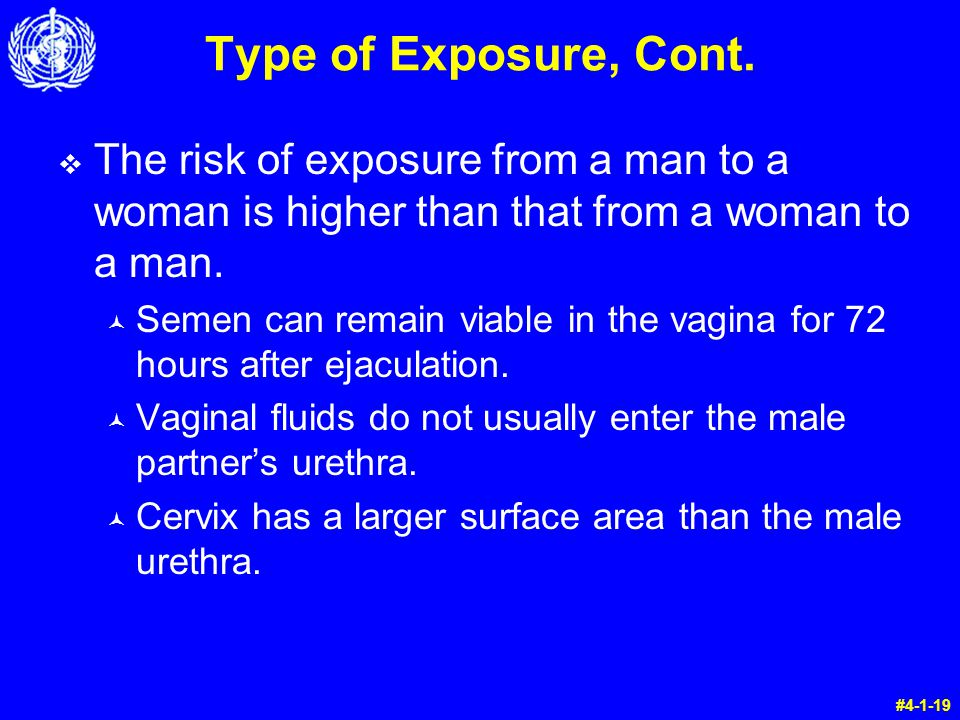 Type of Exposure, Cont.