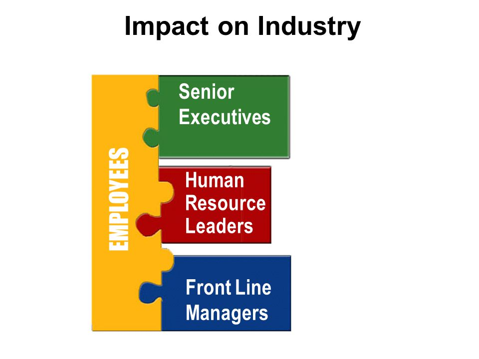 Impact on Industry EMPLOYEES Senior Executives Human Resource Leaders Front Line Managers