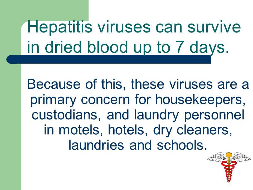 Because of this, these viruses are a primary concern for housekeepers, custodians, and laundry personnel in motels, hotels, dry cleaners, laundries and schools.