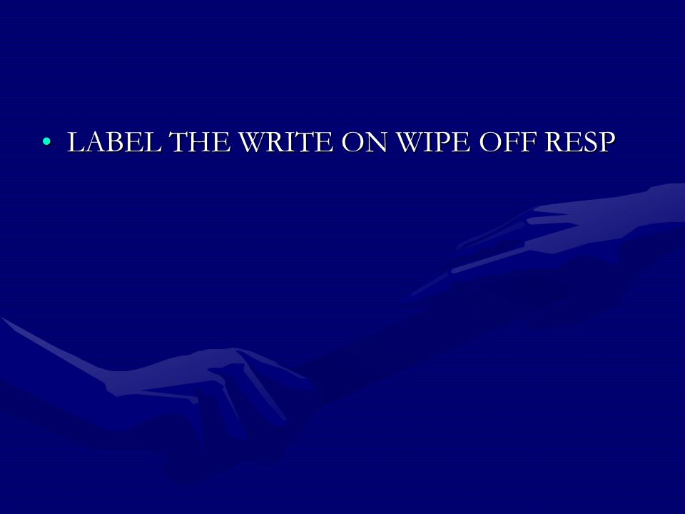 LABEL THE WRITE ON WIPE OFF RESPLABEL THE WRITE ON WIPE OFF RESP