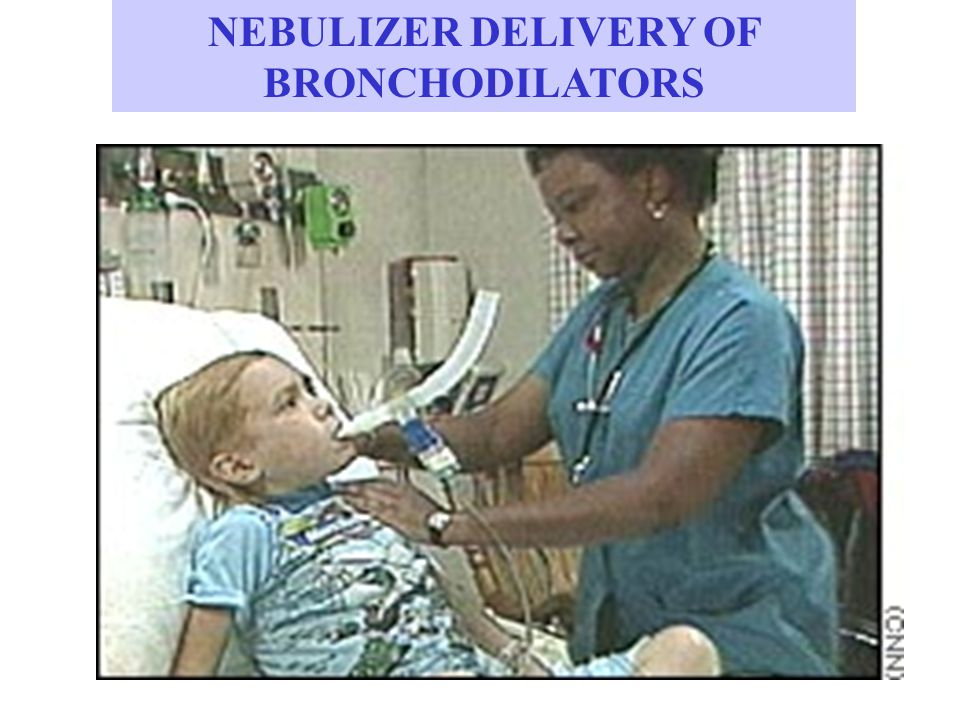 NEBULIZER DELIVERY OF BRONCHODILATORS