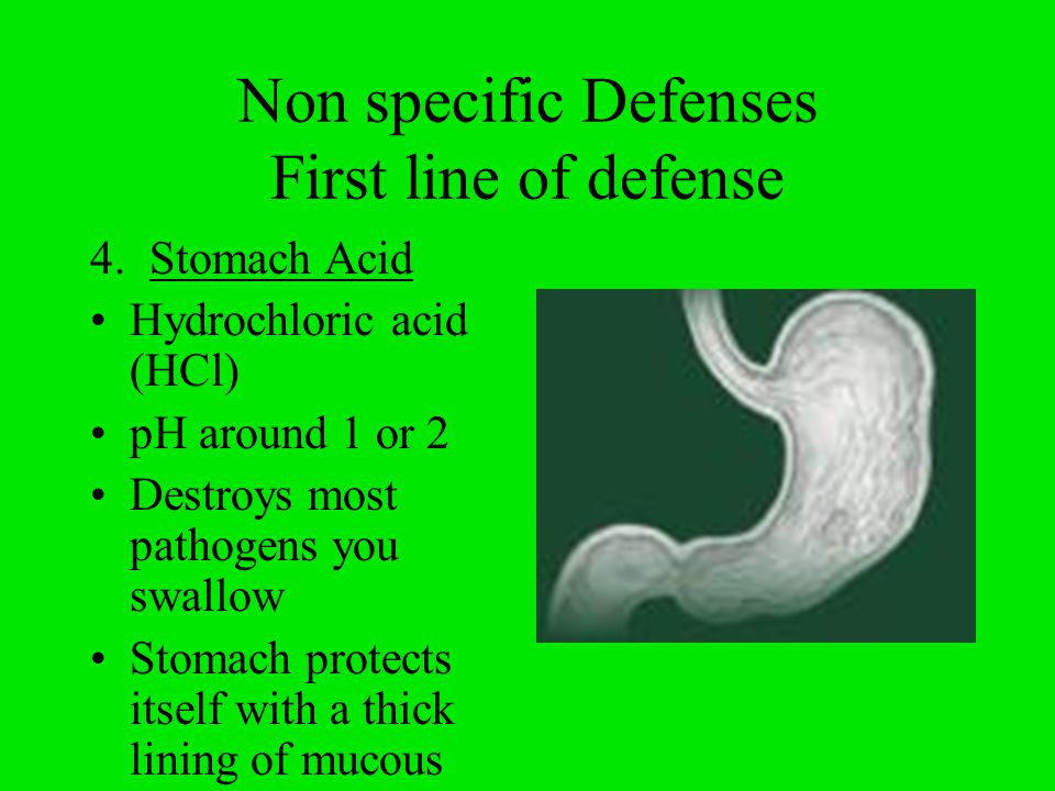 Non specific Defenses Second Line of defense (4) 1.Inflammatory Response 2.Temperature response 3.Proteins 4.White blood cells