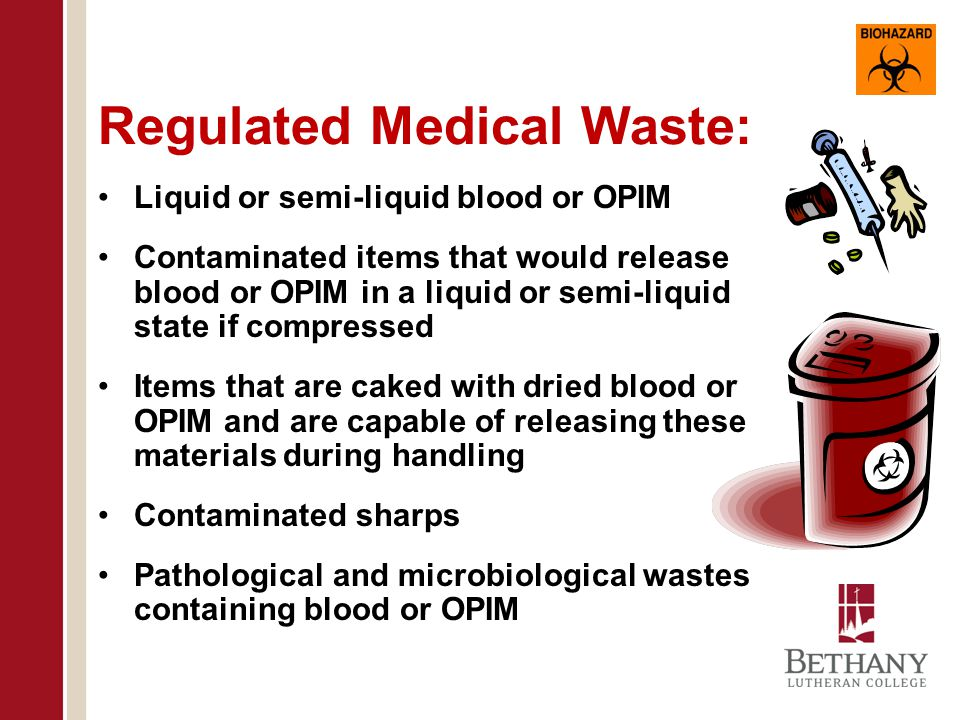 Contaminated Sharps: Any contaminated object that can penetrate the skin including, but not limited to, needles, scalpels, broken glass, broken capillary tubes, and exposed ends of dental wires.