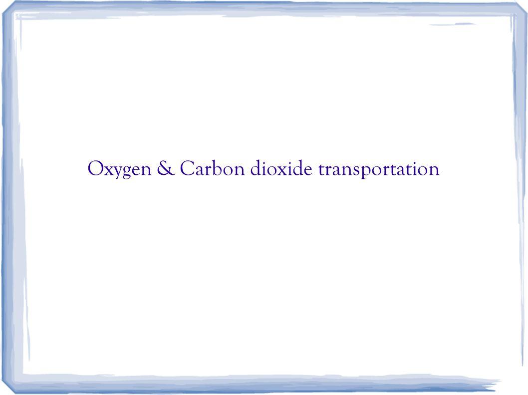 Oxygen & Carbon dioxide transportation
