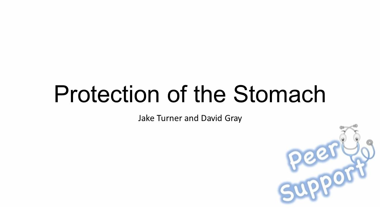 Protection of the Stomach Jake Turner and David Gray