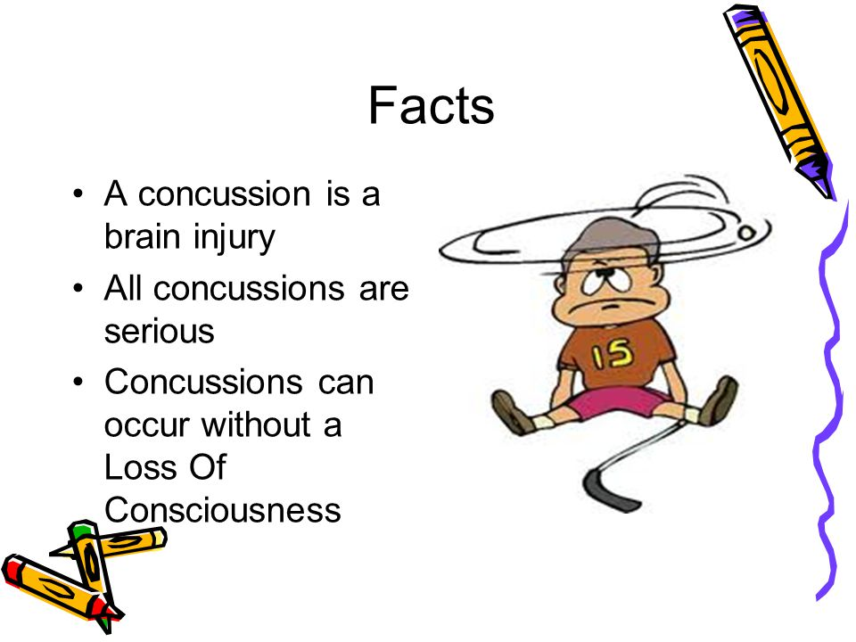 Facts Can occur in any sport Recognition and proper care when they first occur can help prevent further brain injury