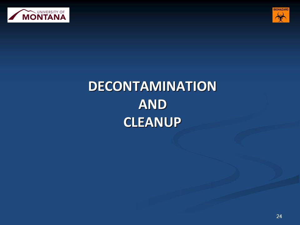 DECONTAMINATION AND CLEANUP 24