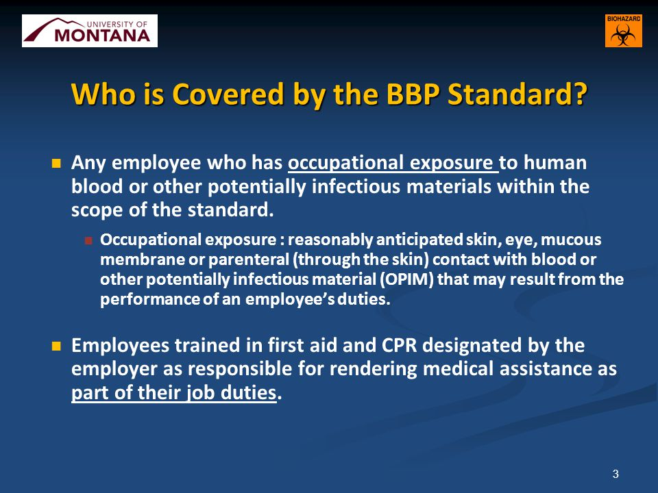 Who is Covered by the BBP Standard.