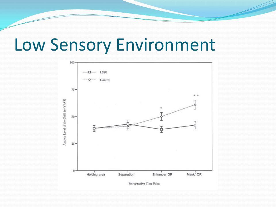 Low Sensory Environment