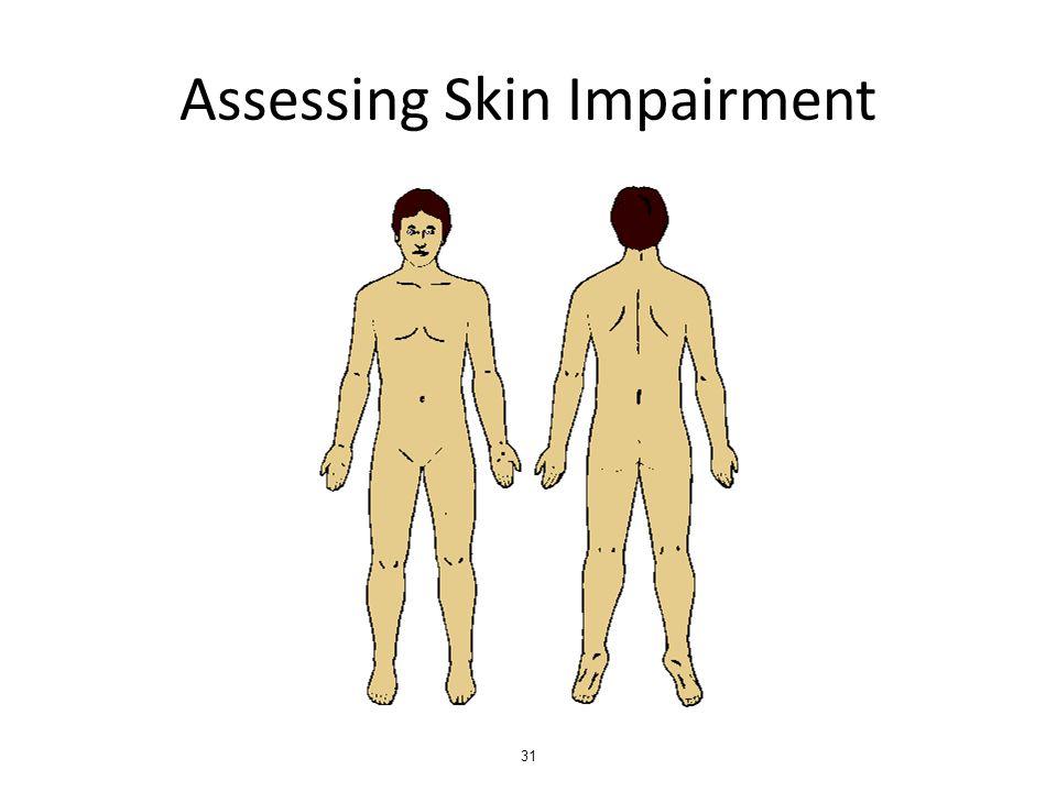 Assessing Skin Impairment 31