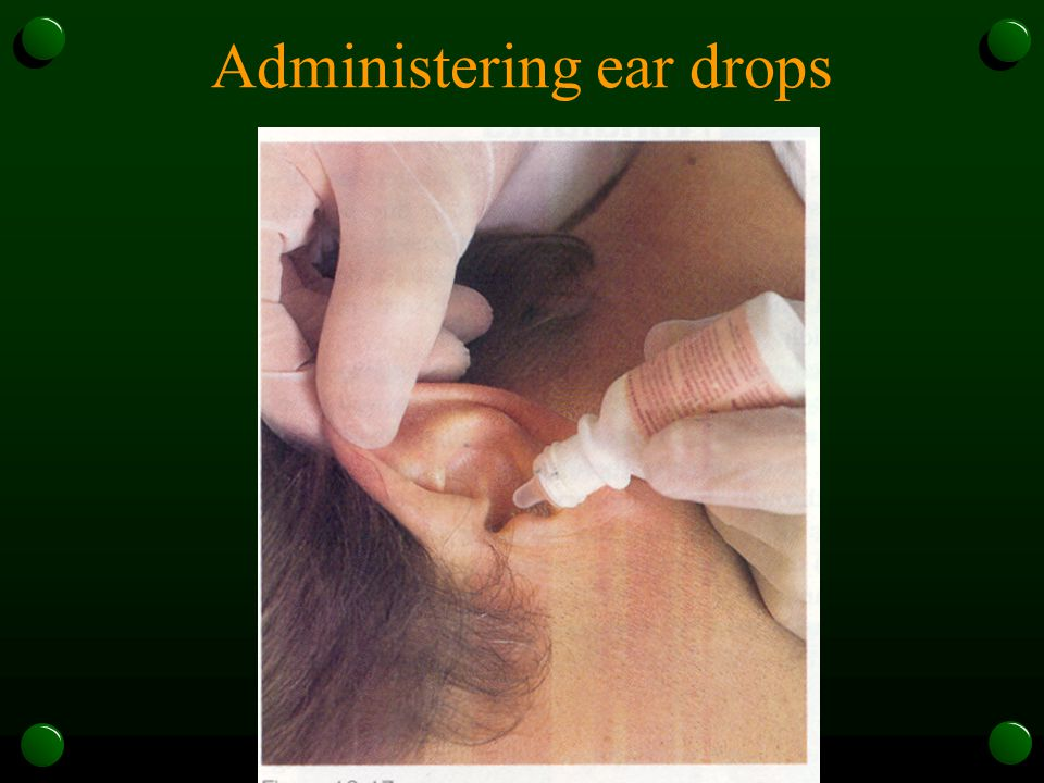 Administering ear drops