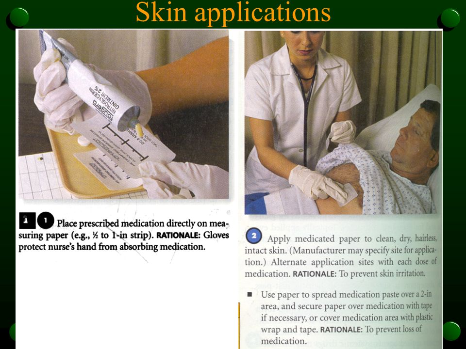 Skin applications