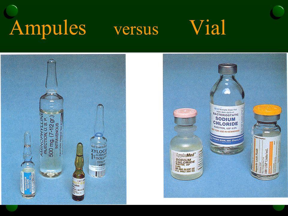 Ampules versus Vial