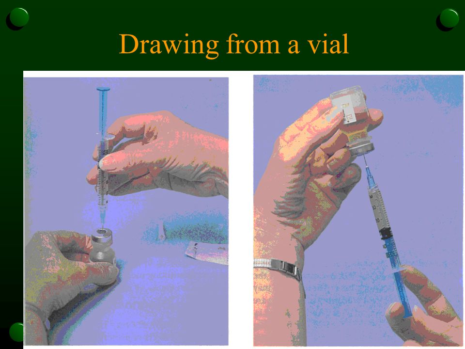Drawing from a vial