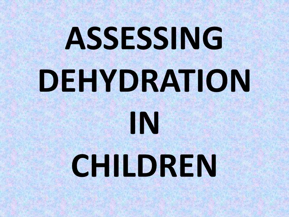 When we talk of 5% dehydration, it means that the child has lost an amount of fluid equal to 5% of the body weight.