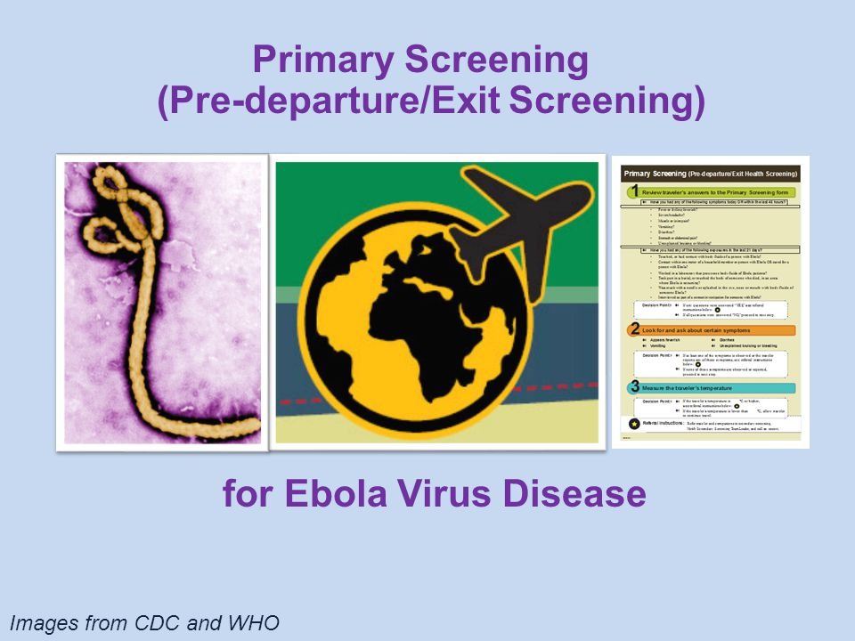 Your role in the exit screening process is crucial to its success Use the screening tools to detect travelers who may be sick or have been exposed to Ebola Refer travelers who are sick or may have been exposed to Ebola to secondary screening for further evaluation Describe appropriate personal protective equipment (PPE) to wear when conducting screenings What is Your Role in Primary Screening?