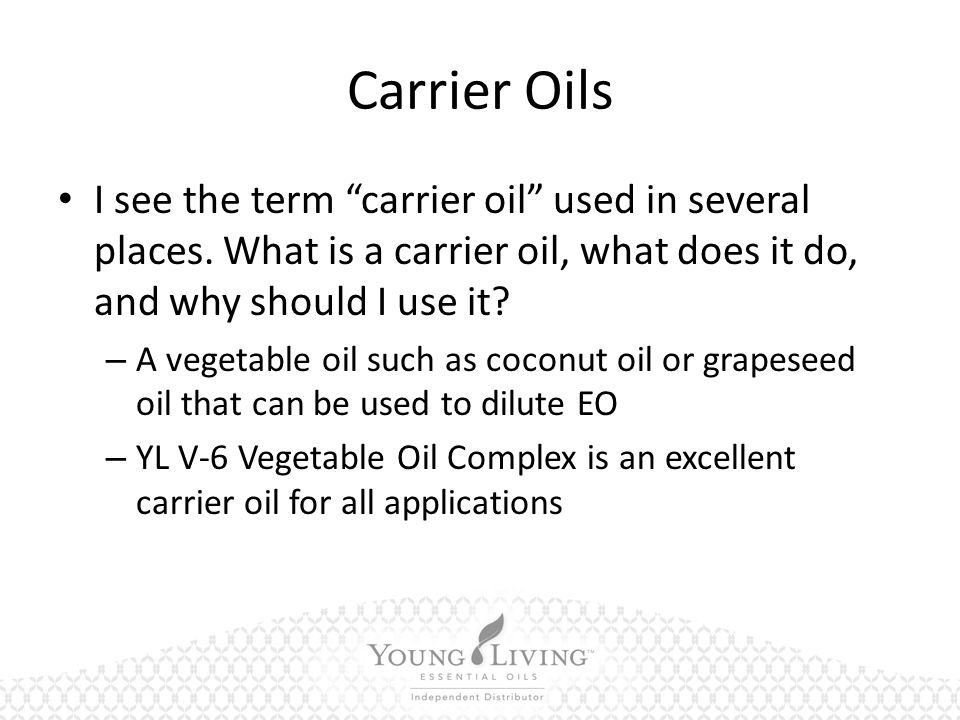 Carrier Oils I see the term carrier oil used in several places.