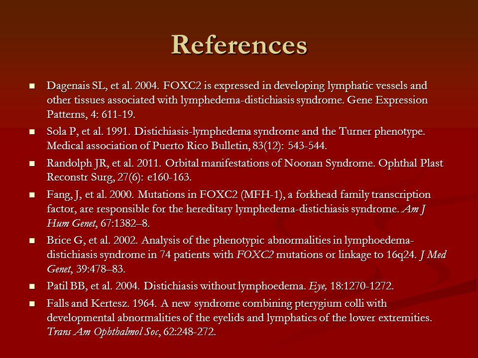 References Dagenais SL, et al. 2004.