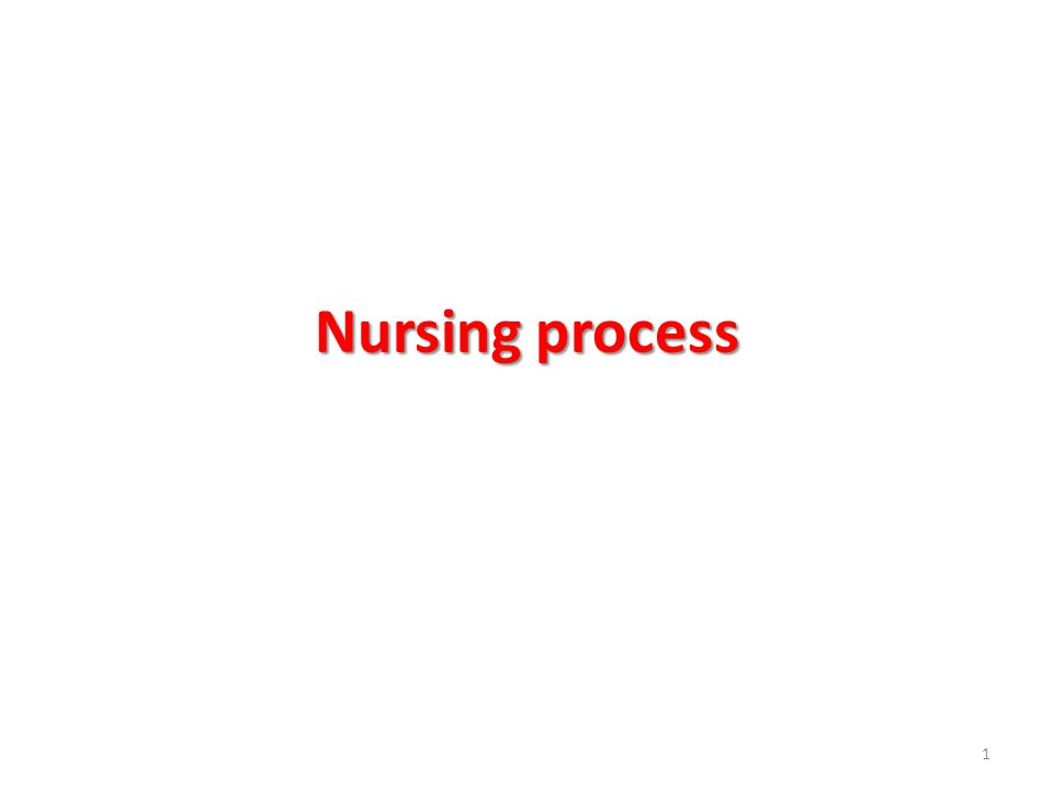 Nursing process 1