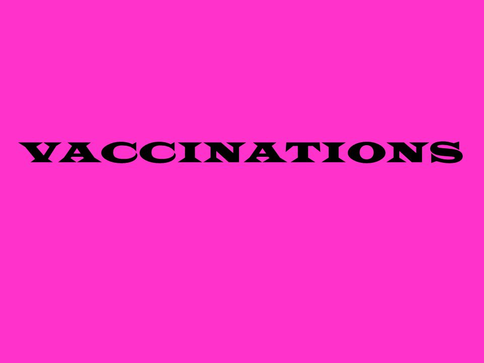 Important part of every animal's health care program Large part of all veterinary practices Lessen chance of contracting a disease When & how vaccinations are given vary from vet to vet and their location