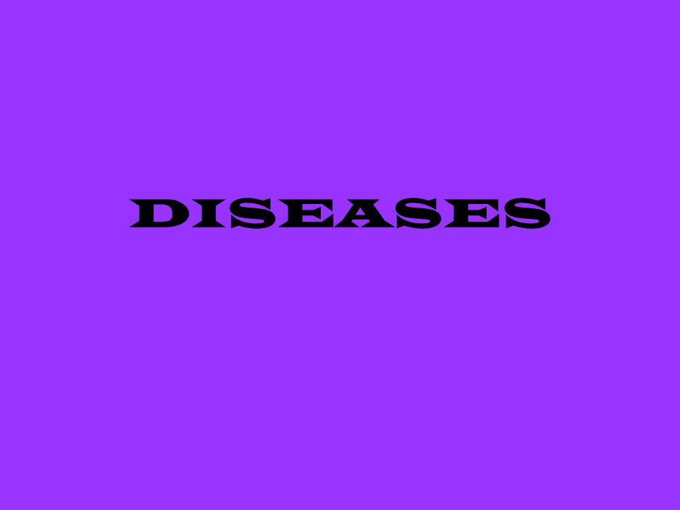 CAUSES OF DISEASES 2 Categories –Infectious-passed from animal to animal or from animal to human (zoonotic) –Non-infectious-cannot be passed from one animal to another or to humans